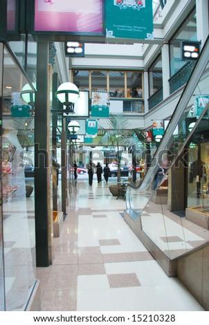 shopping street - stock photo