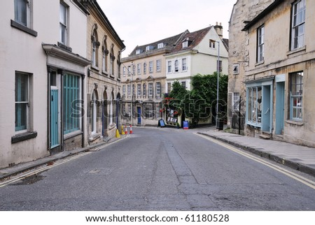 Shopping Street in an English Town - stock photo