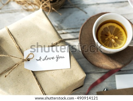 Shopping Tag Handwriting Words Note Concept