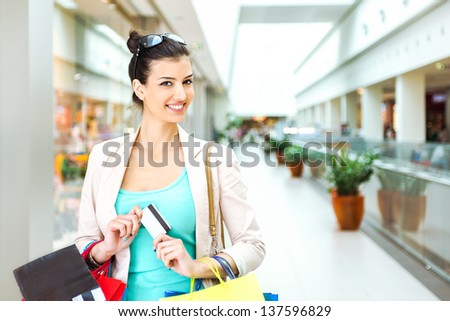 Shopping time - stock photo