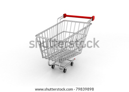 shopping trolley  image - stock photo