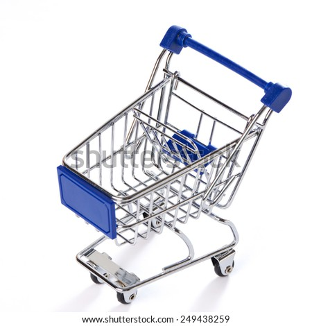 Shopping trolley isolated on white background
