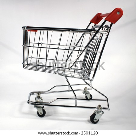 shopping trolley or cart - stock photo