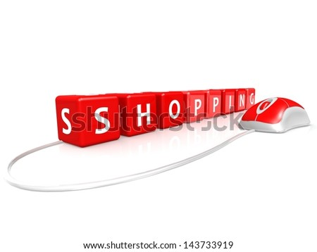 Shopping with mouse - stock photo