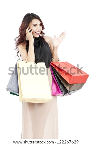 Shopping woman holding shopping bags