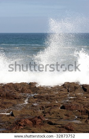Shore and surf - stock photo