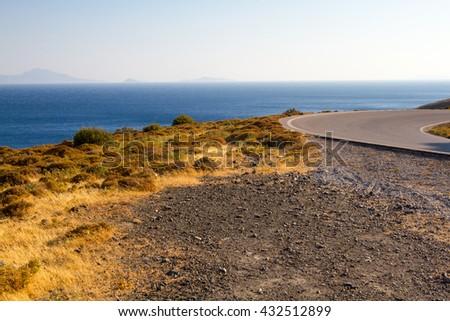 Shore in Kos, Greece. - stock photo