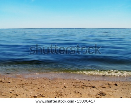 Shore of Fossil Island, Westmoreland State Park, Virginia. - stock photo