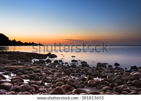Shore of Lake LLanquihue, X Region, Chile  - stock photo
