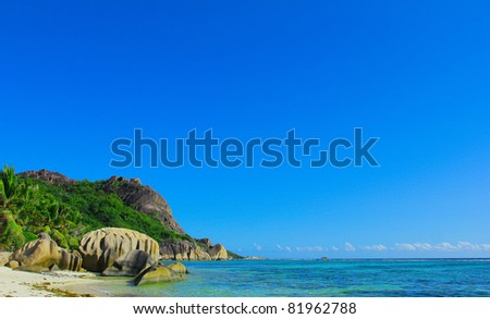 Shore Summertime Palms - stock photo