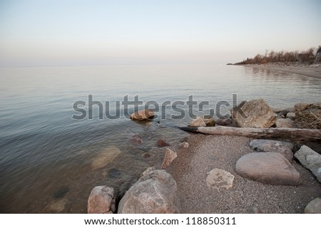 Shoreline of a lake