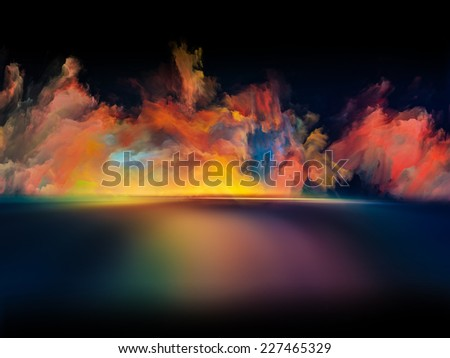Shores of Dreams series. Arrangement of colors and gradients on the subject of art, creativity, imagination and design - stock photo