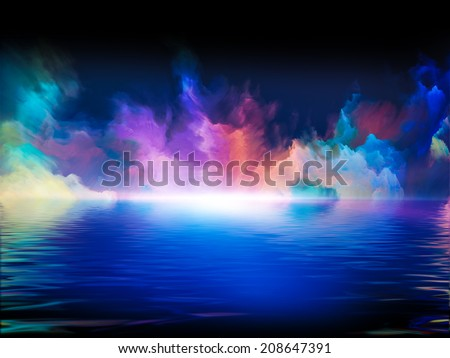 Shores of Dreams series. Backdrop composed of colors and gradients and suitable for use in the projects on art, creativity, imagination and design - stock photo