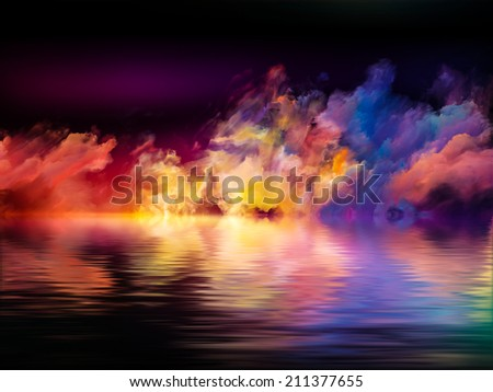 Shores of Dreams series. Backdrop of colors and gradients on the subject of art, creativity, imagination and design - stock photo
