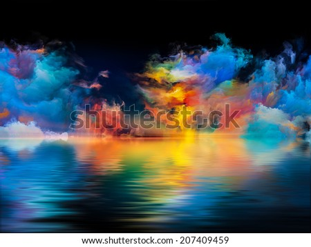 Shores of Dreams series. Background design of colors and gradients on the subject of art, creativity, imagination and design - stock photo
