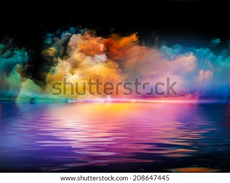Shores of Dreams series. Design composed of colors and gradients as a metaphor on the subject of art, creativity, imagination and design - stock photo
