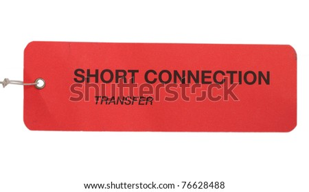 Short connection tag - stock photo