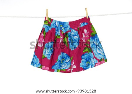 Short flowers skirt