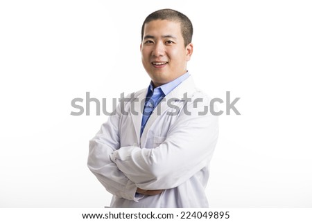 Short hair asian man,28 years old,doctor.