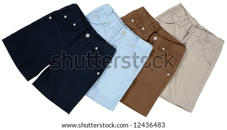 Short pants isolated with clipping path - stock photo