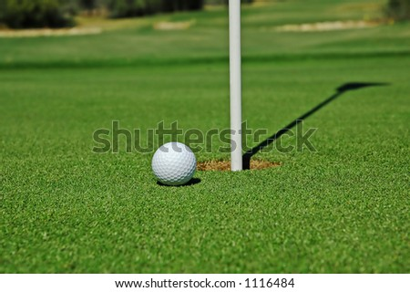Short putt for par. - stock photo