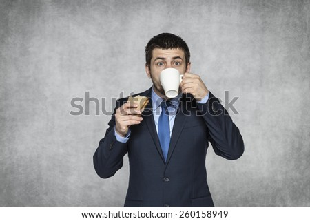 short time for food - stock photo