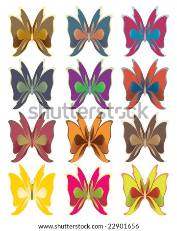 Short wing butterflies - jpg version