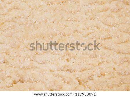 Shortbread cookies with sugar - stock photo