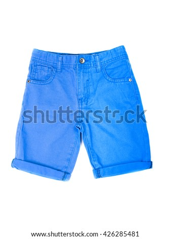 shorts for boy isolated on white background - stock photo