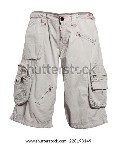 shorts isolated on white - stock photo
