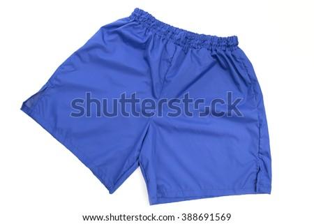 shorts on the white background - stock photo