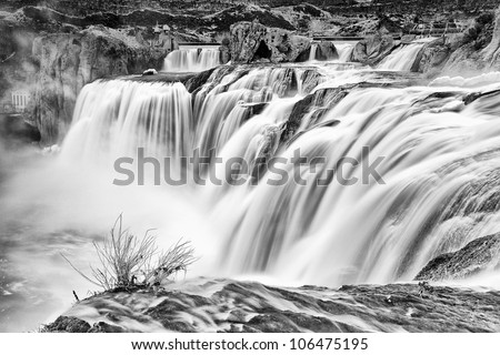 Shoshone Falls in Twin Falls, Idaho is considered the Niagara Falls of the West for good reason. - stock photo