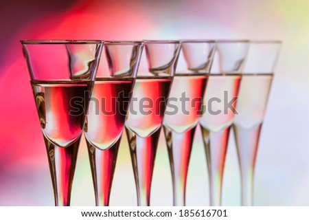 Shot Glass drinks - stock photo