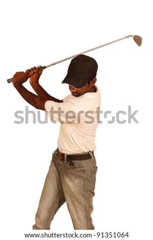 shot golf - stock photo