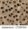 shot holes on old rusty metal - stock photo