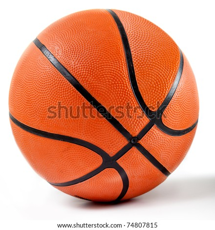 Shot of a basketball isolated over a white background - stock photo