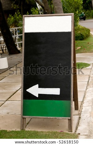 Shot of a Blank notice board. Display stand board
