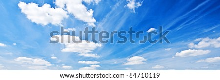 Shot of a Blue Sky with Clouds - stock photo