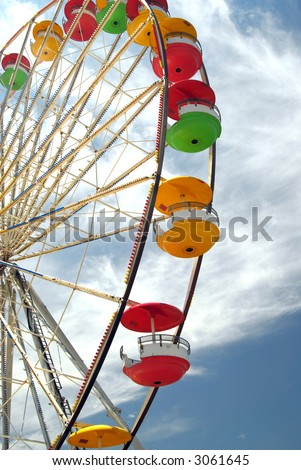 Shot of a ferris wheel.  Festival in Sandford, Florida. - stock photo