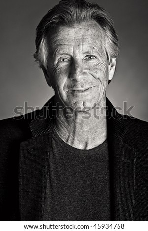 Shot of a Happy Handsome Senior Male - stock photo