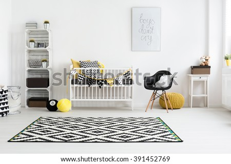 Shot of a modern baby room - stock photo