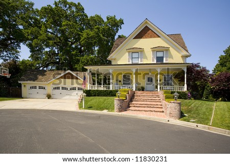 Shot of a northern California Traditionally styled home. - stock photo