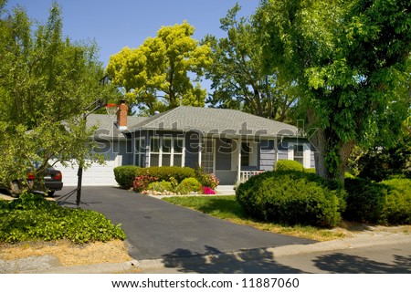 Shot of a northern California Traditionally Styled Home - stock photo