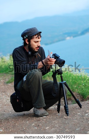 shot of a photographer at work