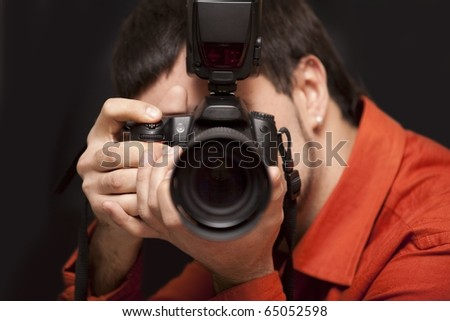 Shot of a photographer with camera