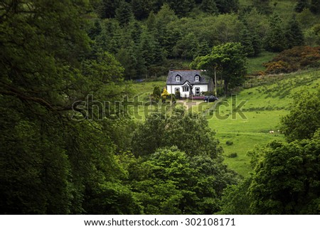 Shot of a pretty Country Home - stock photo