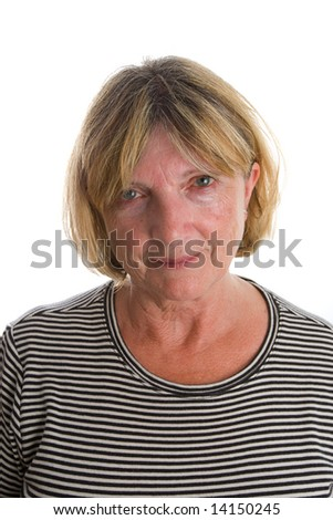 Shot of a Senior Lady Looking at the Camera against a White Background