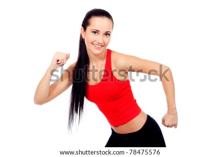 Shot of a sporty young woman. Active lifestyle, wellness. - stock photo