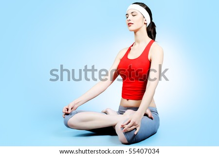 Shot of a sporty young woman. Active lifestyle, wellness, yoga. - stock photo