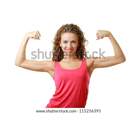Shot of a sporty young woman. Active sporty life, wellness. - stock photo